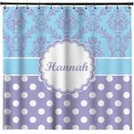 Purple Damask & Dots Shower Curtain (Personalized)
