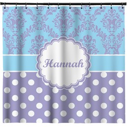 Purple Damask & Dots Shower Curtain (Personalized)