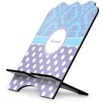 Purple Damask & Dots Stylized Tablet Stand (Personalized)