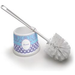 Purple Damask & Dots Toilet Brush (Personalized)