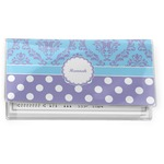 Purple Damask & Dots Vinyl Checkbook Cover (Personalized)