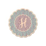 Purple Damask & Dots Genuine Maple or Cherry Wood Sticker (Personalized)