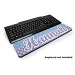 Purple Damask & Dots Keyboard Wrist Rest (Personalized)