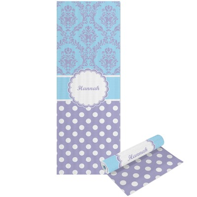 Purple Damask & Dots Yoga Mat - Printable Front and Back (Personalized)