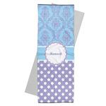 Purple Damask & Dots Yoga Mat Towel (Personalized)