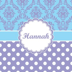 Purple Damask & Dots