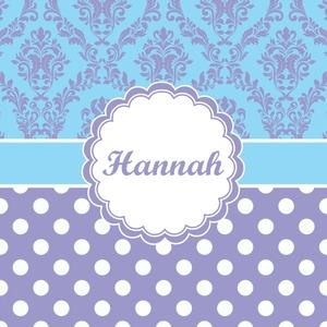 Purple Damask & Dots
