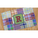 Blue Madras Plaid Print Area Rug (Personalized)