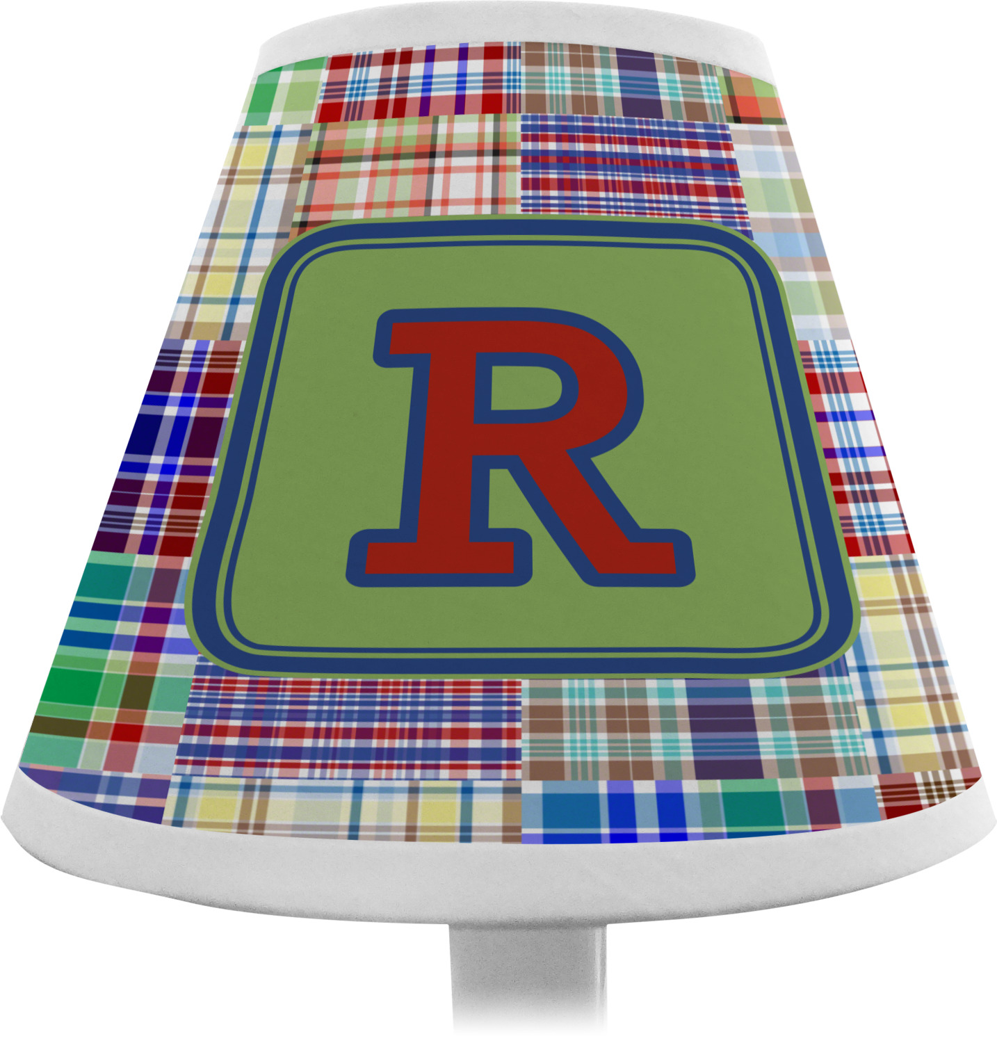 Blue madras plaid print chandelier lamp shade personalized blue madras plaid chandelier lamp shade personalized aloadofball Image collections
