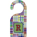 Blue Madras Plaid Print Door Hanger (Personalized)