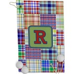 Blue Madras Plaid Print Golf Towel - Full Print (Personalized)