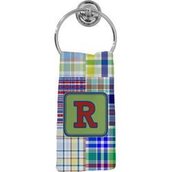 Blue Madras Plaid Print Hand Towel - Full Print (Personalized)