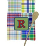 Blue Madras Plaid Print Kitchen Towel - Full Print (Personalized)