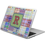 Blue Madras Plaid Print Laptop Skin - Custom Sized (Personalized)