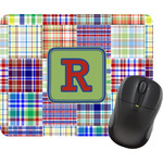 Blue Madras Plaid Print Mouse Pads (Personalized)