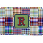 Blue Madras Plaid Print Comfort Mat (Personalized)