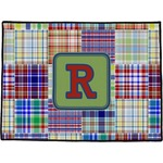 Blue Madras Plaid Print Door Mat (Personalized)