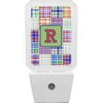Blue Madras Plaid Print Night Light (Personalized)