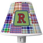 Blue Madras Plaid Print Shade Night Light (Personalized)