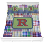 Blue Madras Plaid Print Comforter Set (Personalized)