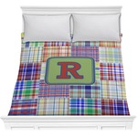 Blue Madras Plaid Print Comforter (Personalized)