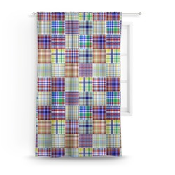Blue Madras Plaid Print Curtain (Personalized)