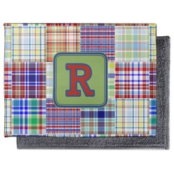 Blue Madras Plaid Print Microfiber Screen Cleaner (Personalized)