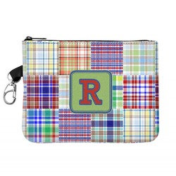 Blue Madras Plaid Print Golf Accessories Bag (Personalized)