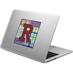 Blue Madras Plaid Print Laptop Decal (Personalized)