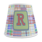 Blue Madras Plaid Print Empire Lamp Shade (Personalized)