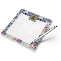 Blue Madras Plaid Print Notepad (Personalized)