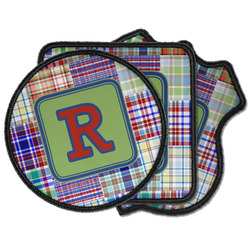 Blue Madras Plaid Print Iron on Patches (Personalized)