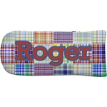 Blue Madras Plaid Print Putter Cover (Personalized)