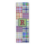 Blue Madras Plaid Print Runner Rug - 3.66'x8' (Personalized)
