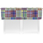 Blue Madras Plaid Print Valance (Personalized)