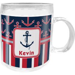 Nautical Anchors & Stripes Acrylic Kids Mug (Personalized)