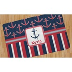 Nautical Anchors & Stripes Area Rug (Personalized)
