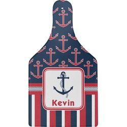 Nautical Anchors & Stripes Cheese Board (Personalized)