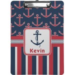 Nautical Anchors & Stripes Clipboard (Personalized)