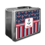 Nautical Anchors & Stripes Lunch Box (Personalized)
