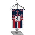 Nautical Anchors & Stripes Finger Tip Towel - Full Print (Personalized)