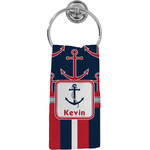 Nautical Anchors & Stripes Hand Towel - Full Print (Personalized)
