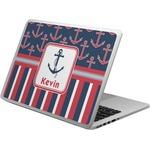 Nautical Anchors & Stripes Laptop Skin - Custom Sized (Personalized)