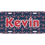 Nautical Anchors & Stripes Front License Plate (Personalized)