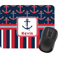 Nautical Anchors & Stripes Mouse Pads (Personalized)