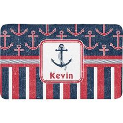 Nautical Anchors & Stripes Bath Mat (Personalized)