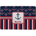 Nautical Anchors & Stripes Comfort Mat (Personalized)