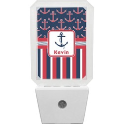 Nautical Anchors & Stripes Night Light (Personalized)