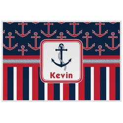 Nautical Anchors & Stripes Placemat (Laminated) (Personalized)