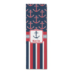 Nautical Anchors & Stripes Runner Rug - 3.66'x8' (Personalized)